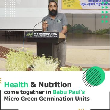 Micro Green Germination Units for Nutritious Food